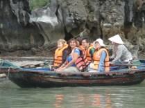 Barco com a canadense, os chineses, eu e a remadora (tadinha)
