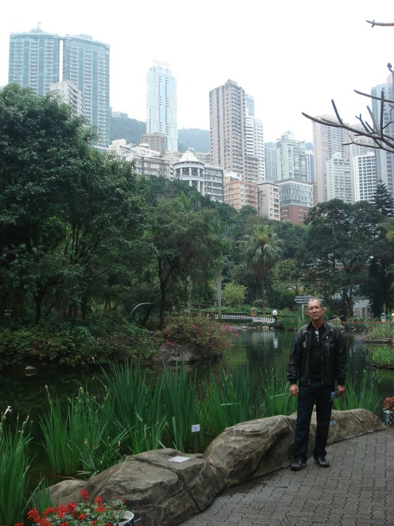 Hong Kong Park um espaço imenso, limpo, bem conservado e cheio de prédios históricos