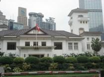 Casa do Governo – onde antes moravam e trabalhavam os governantes de HK. Estilo georgiano com mistura japonesa (por causa da invasão japonesa). Agora é onde fica o chefe executivo de HK