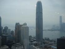 E aí subimos até o 43º. Andar (!!!!) do Banco da China para ver a cidade do alto.