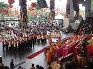 Cerimonia budista no South Bank Precinct (Margem Sul do Rio)