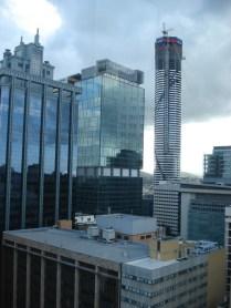 Vista do alto da Torre do Relógio, o maior prédio de Brisbane