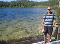 Primeira parada: Lago Mackenzie. Um lago todinho formado por água de chuva