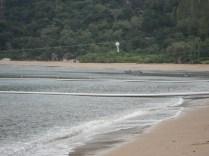 E mais uma praia em que não se pode nadar por causa das águas vivas. Só no cercadinho.