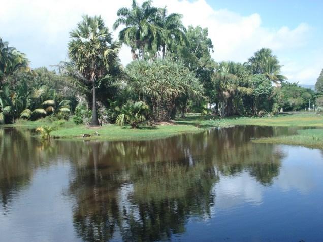Vista do jardim botânico. Sempre limpo e bem cuidado
