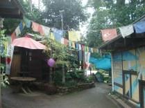 Essa é a parte hippie da cidade com casas e negócios