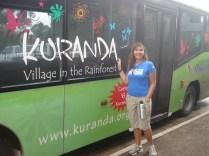Esse é o ônibus que leva até Kuranda