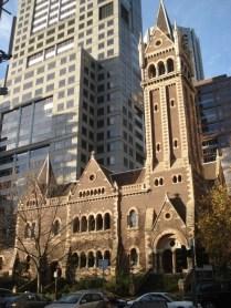 Outra igreja linda: Scots Church (igreja dos escoceses) de 1874 construída com pedras da Austrália e que tinha intenção de ser o edifício mais bonito da cidade