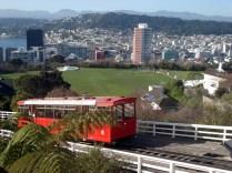 Vista de Wellington na chegada do funicular