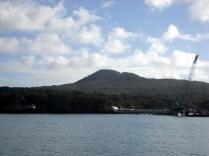 Ilha de Rangitoto vista do ferry