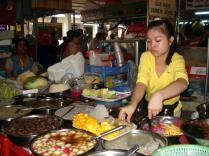 Banca de comida dentro do mercado