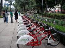 Bicicletas presentes em várias ruas da cidade