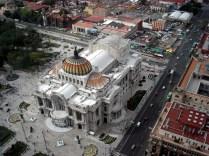 Vista do Bellas Artes a partir do 41º. Andar da Torre LatinoAmericana