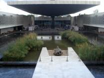 Museu visto de dentro de uma das salas