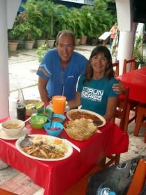 Almoço no mercado
