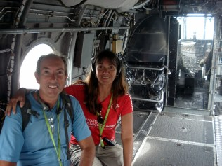 Dentro de algum dos inúmeros aviões que a gente pode entrar