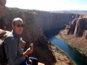Carlos almoçando no HorseShoe Bend