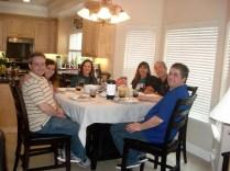 Almoço com a família e amigos