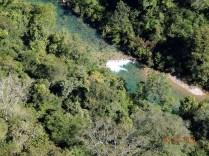 Primeira vista de uma cachoeira