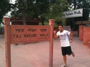 Jogging at the Taj Nature Walk