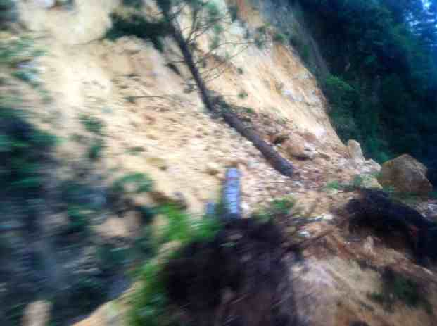 The rockslide that caused our traffic