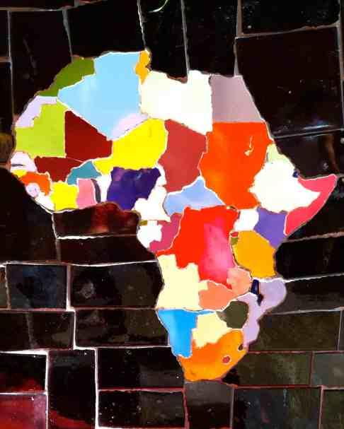 Africa at Escadaria Selaron