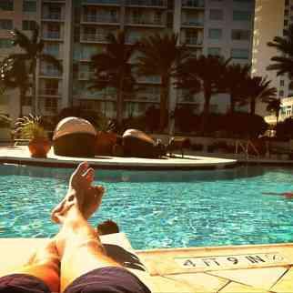 Enjoying our CS host's pool