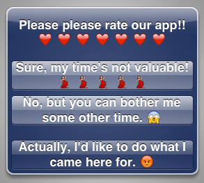 "Toward a better ""Rate this app"""
