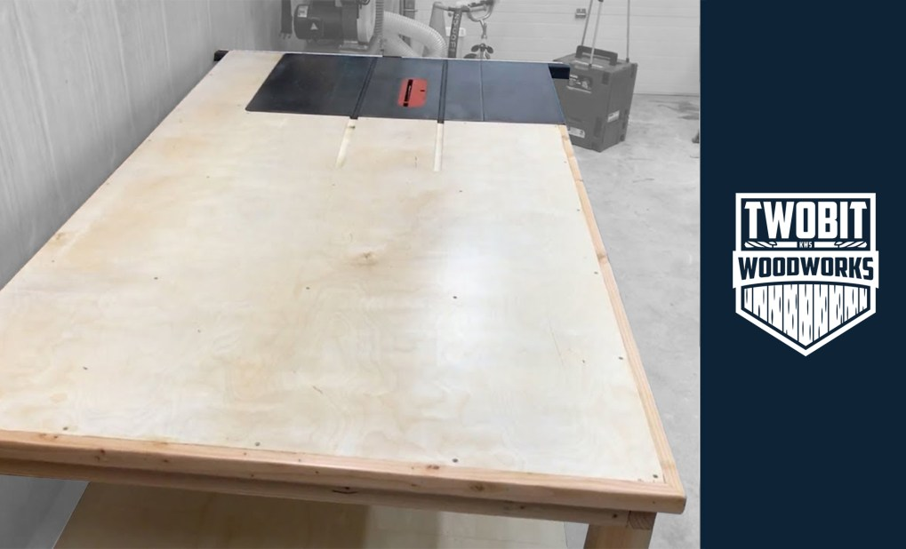 Awesome Diy Table Saw Outfeed Table Shop Projects Two Bit Woodworks Squirreltailoven Fun Painted Chair Ideas Images Squirreltailovenorg