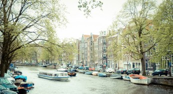Amsterdam canal boats