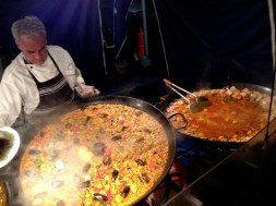 Paella at the Rock's night markets, June