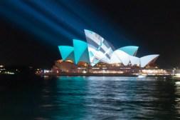 Sydney Opera House lit up for the Vivid Festival, June
