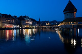 Blue night in Lucerne