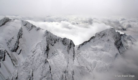 View on a flight from Wanaka to Milford Sound