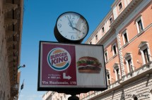Fast food signs, Rome