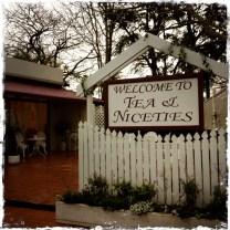 entry to Tea and Niceties tea room