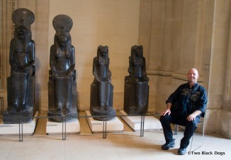 The Egyptian antiquities display, the Louvre, Paris