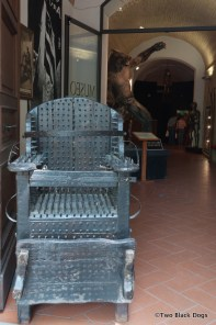 Torture chair, Medieval Criminal and Torture Museum, Volterra