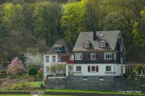A house on the Rhine between Bacharach and St Goar, Germany