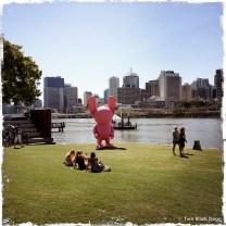 Stormie Mills big pink bunny