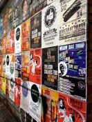 Street posters, Melbourne laneways