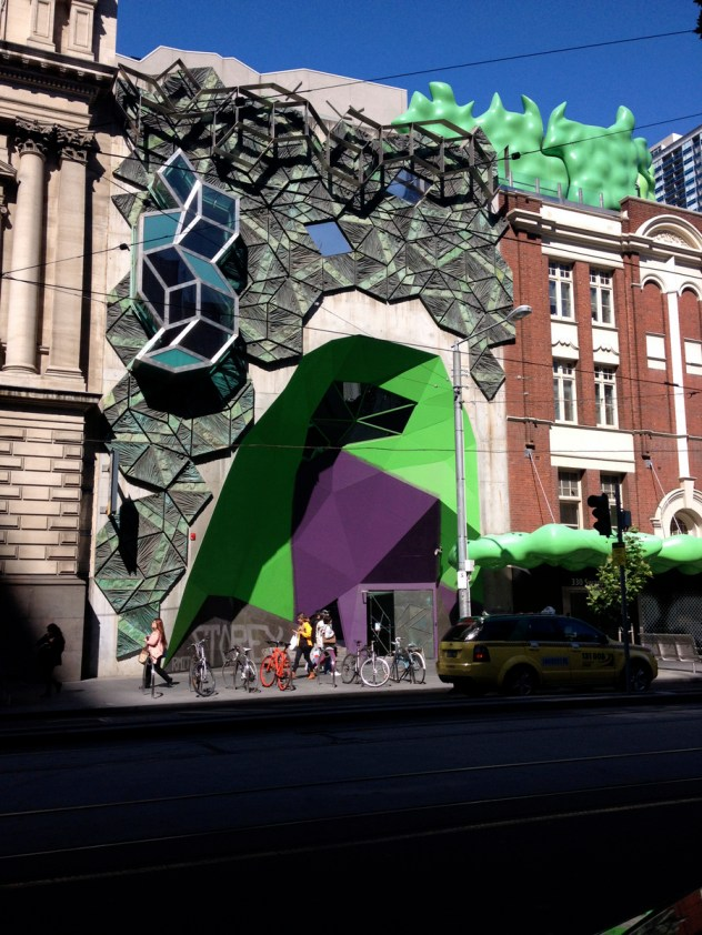 The other side of the Green Brain building, RMIT