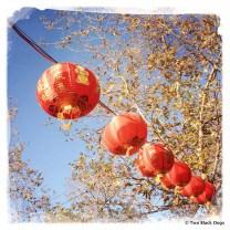 Chinese lantern outside Crown Casino