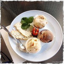 Trio of ice cream made with the creamy milk from Jersey cows