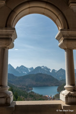 View of the lake from Neuschwanstein Castle