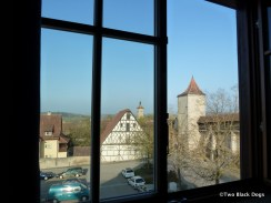 View from room, Rothenburg ob de tauber