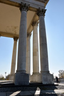 Corinthian columns at the entrance of the Basilica