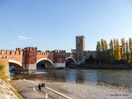 Castelvecchio bridge over the Adige River