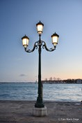 Romantic street lights of Venice