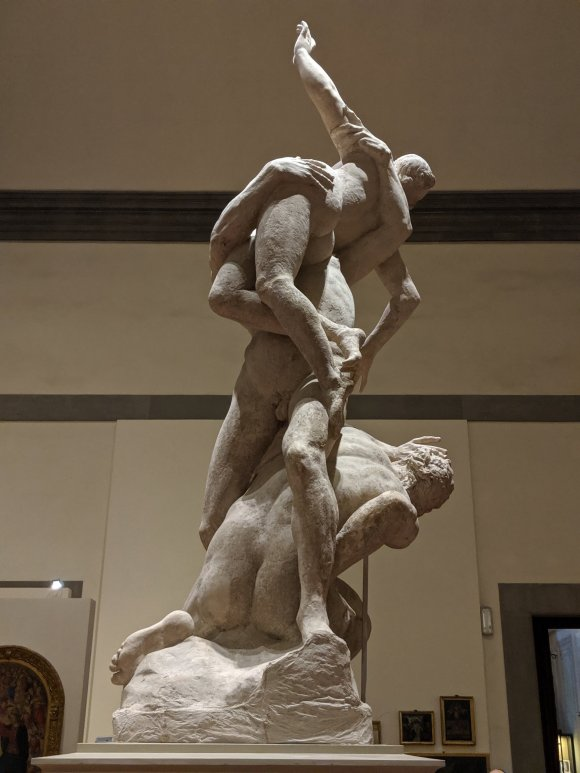 Rape of the Sabine Women statue at the Galleria